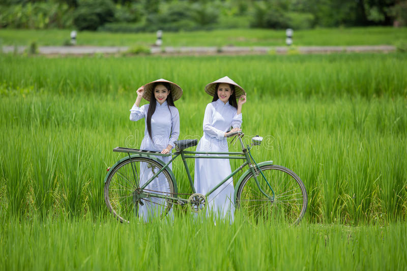 Pretty girl in Vietnam, smile royalty free stock images