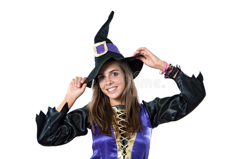 Download Pretty Girl With Witch Costume Stock Image - Image: 10966597