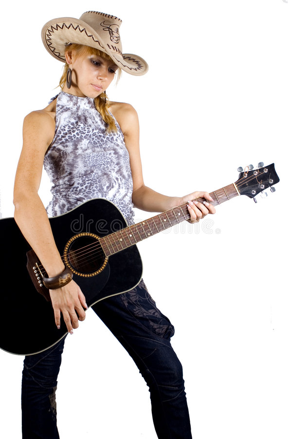 Free Pretty Girl With Guitar Royalty Free Stock Photography - 6981257