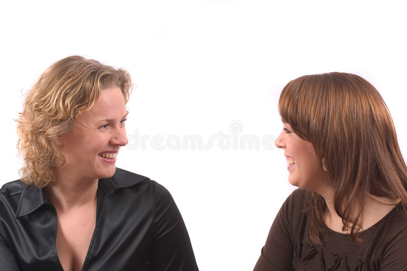 Pretty girlfriends stock photography