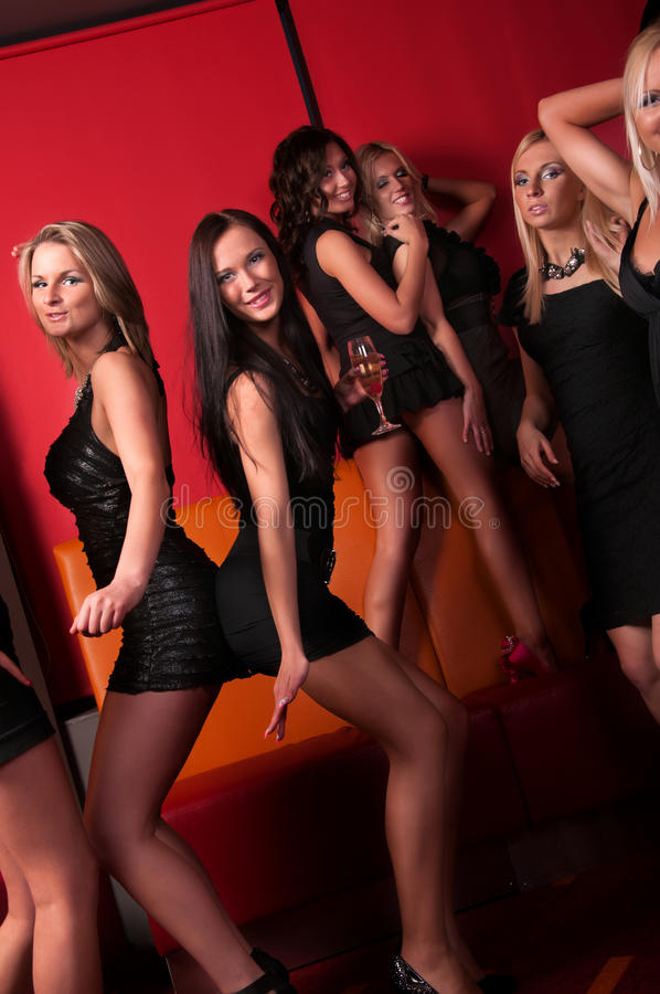 Download Pretty Girls Dancing In Night Club Stock Image - Image: 24922723