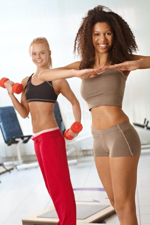 Download Pretty girls exercising stock image. Image of ethnic - 31219071