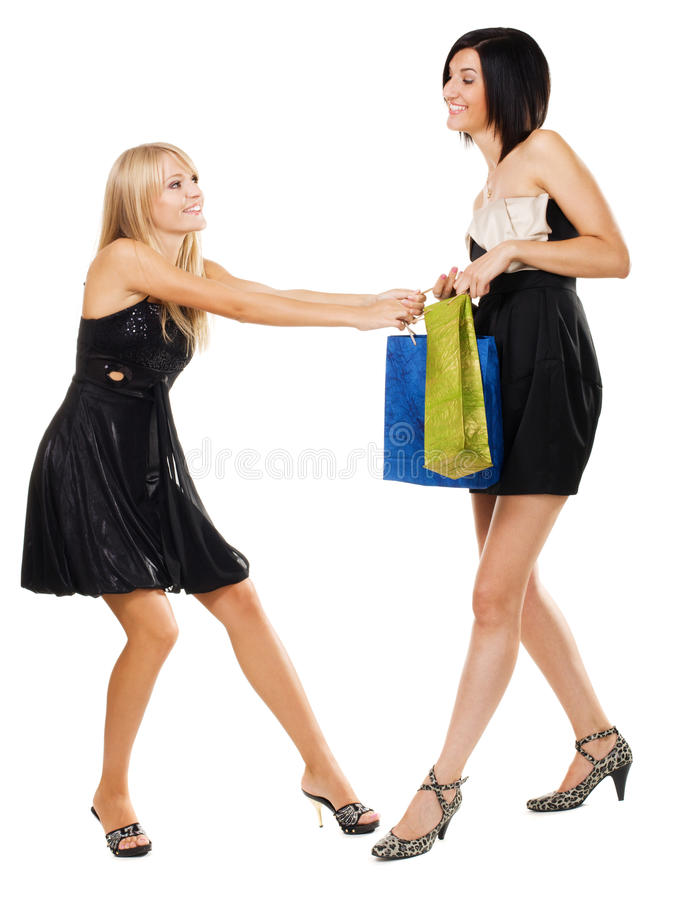 Pretty girls fighting for purchase