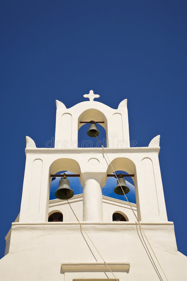 Download Pretty Greek Church Bell Tower Stock Photo - Image: 8599094