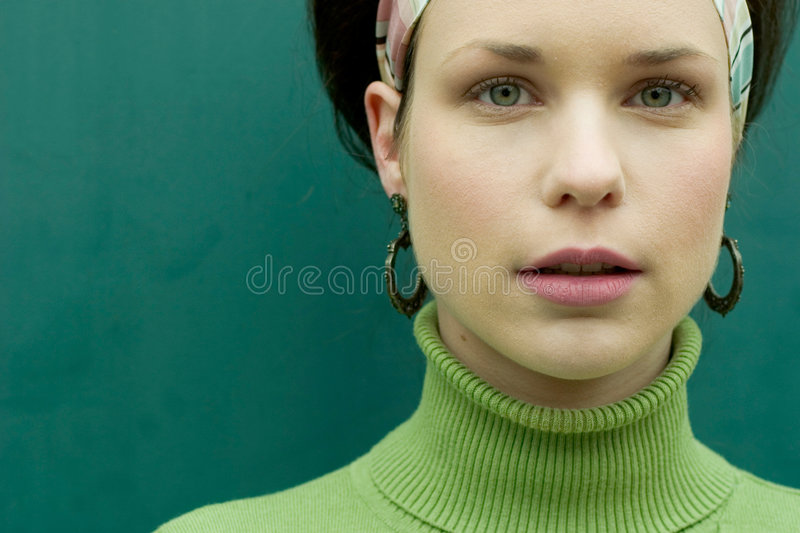 Pretty in Green royalty free stock image