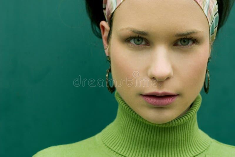 Pretty in Green stock photo