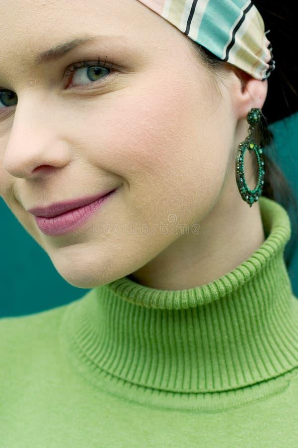Pretty in Green stock photos