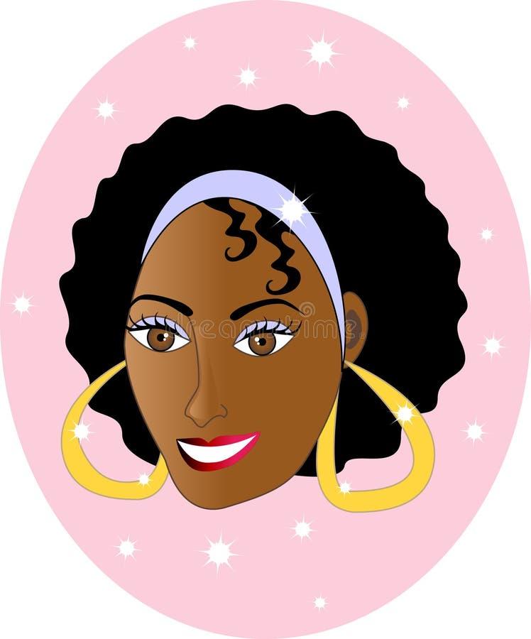 Pretty Happy Girl Smiling. royalty free illustration