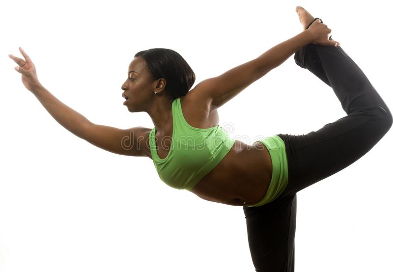 Pretty hispanic african american exercising stock images