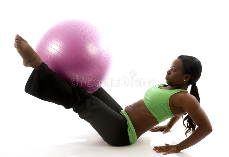pretty hispanic african american woman exercising royalty free stock photos