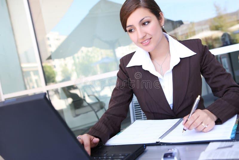 Pretty Hispanic Business Woman stock photo
