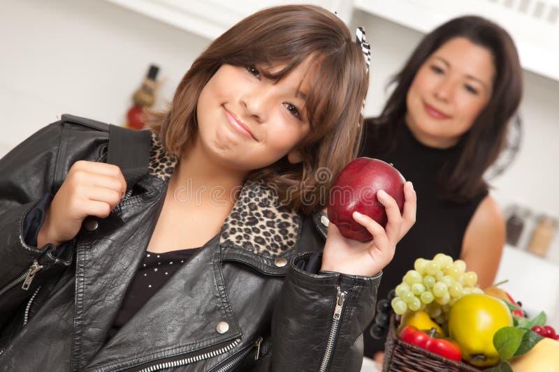 Download Pretty Hispanic Girl Ready For School Stock Image - Image: 10493853