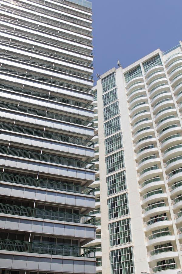 Pretty hotel building in Brasilia`s center. Modern buildings in Brasilia`s hotel sector in the city center royalty free stock photos