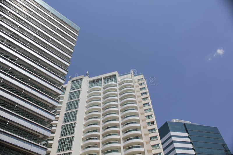 Pretty hotel building in Brasilia`s center. Modern buildings in Brasilia`s hotel sector in the city center stock photos