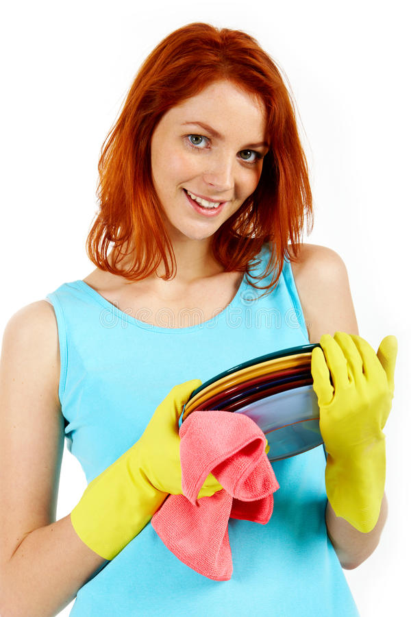 Pretty housewife stock image