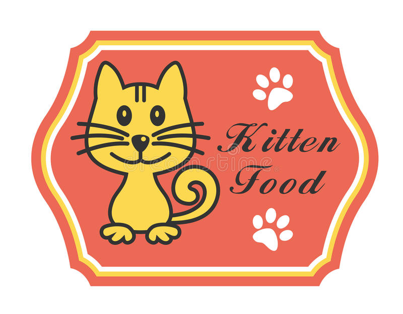 Download Pretty Kitten Food Label Stock Images - Image: 37762904