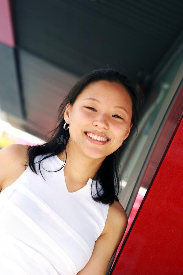 Pretty Korean woman royalty free stock image
