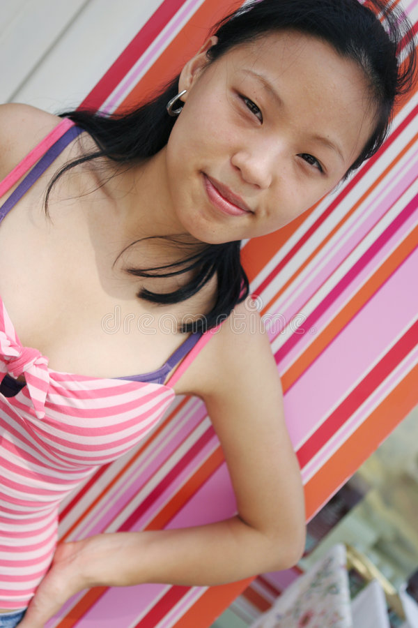 Pretty Korean woman stock photography