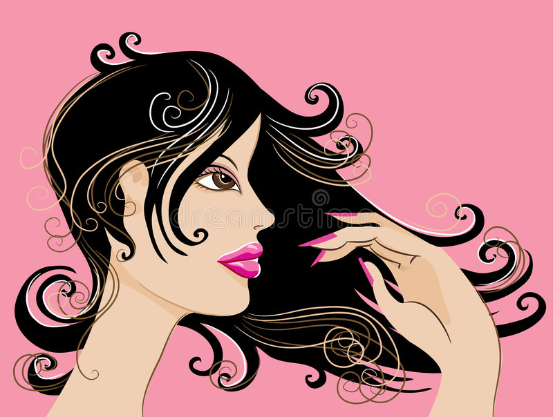 Download Pretty lady stock illustration. Image of lady, disco, female - 3222779