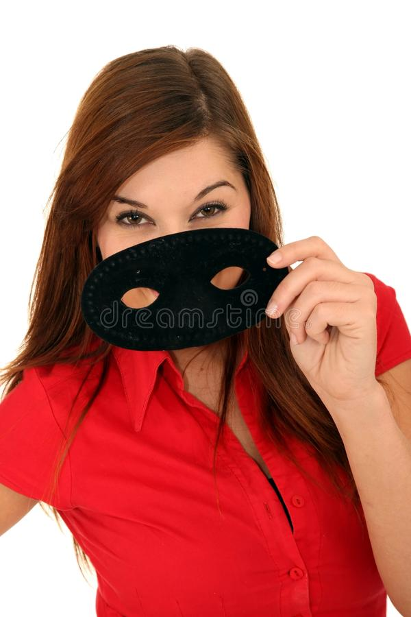 Download Pretty Lady and Mask stock photo. Image of pretty, fantasy - 14923294