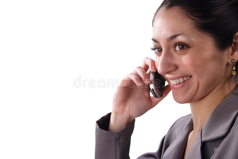 Download Pretty Latino Business Woman Stock Image - Image of executive, phone: 1952095
