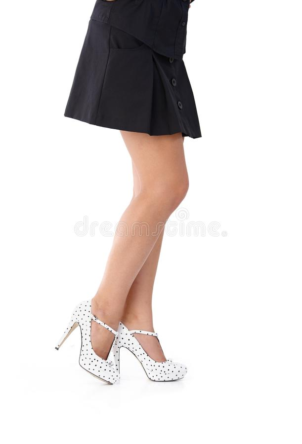 Download Pretty legs in mini skirt stock image. Image of figure - 24455923