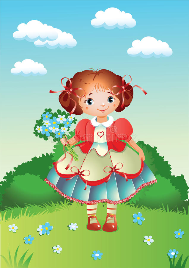 Download A pretty little girl stock vector. Illustration of vector - 14425523