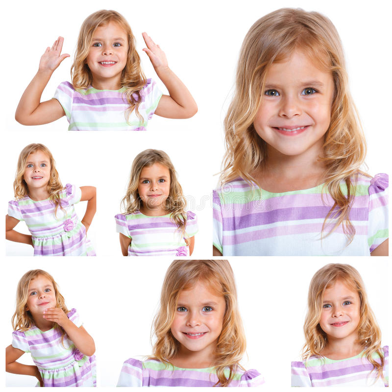 Pretty little girl royalty free stock photo