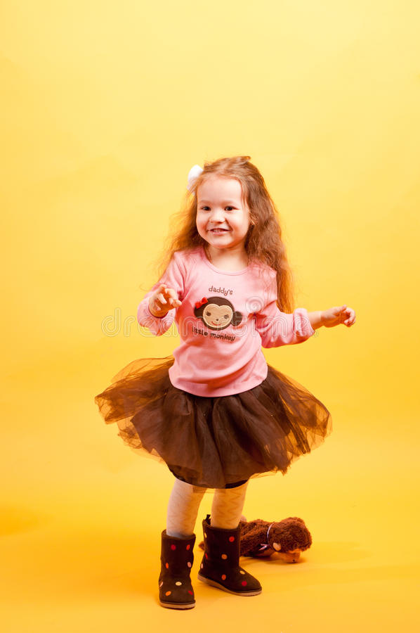Free Pretty Little Girl Dancing Royalty Free Stock Photo - 17357785