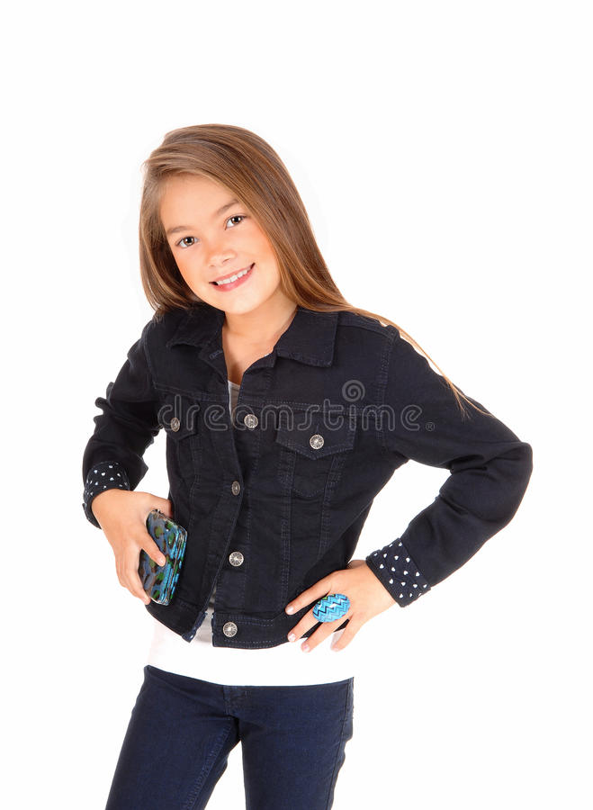 Pretty little girl. stock images