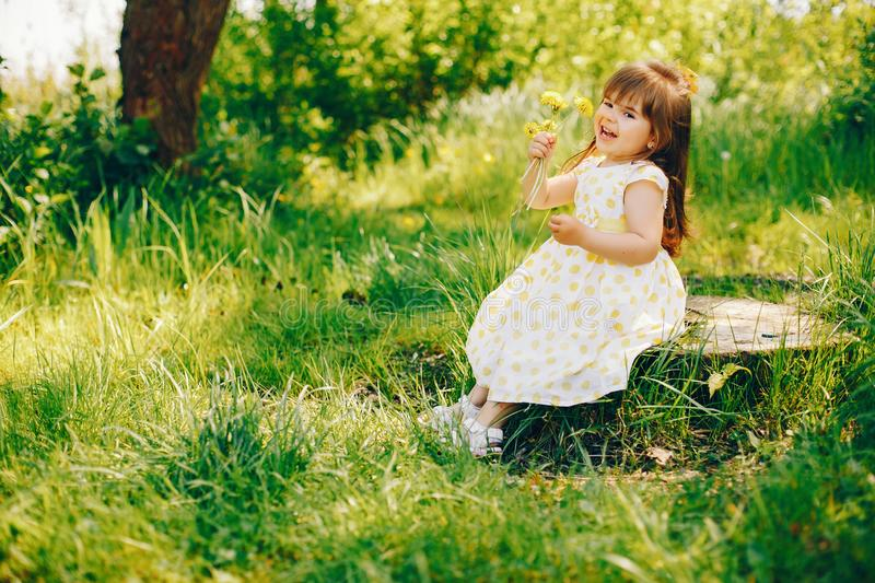 Pretty little girl stock photography
