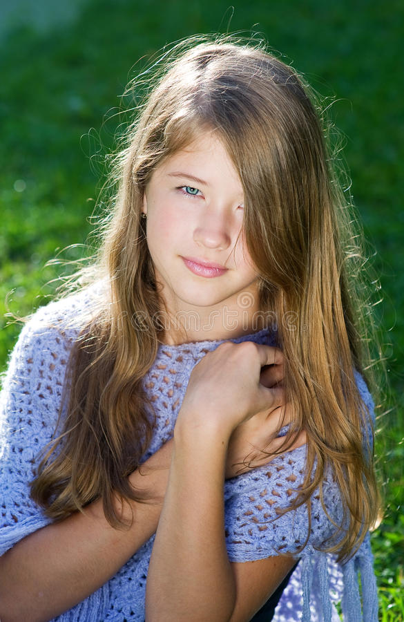 Download Pretty Little Girl In Sunshine Stock Image - Image: 20694679