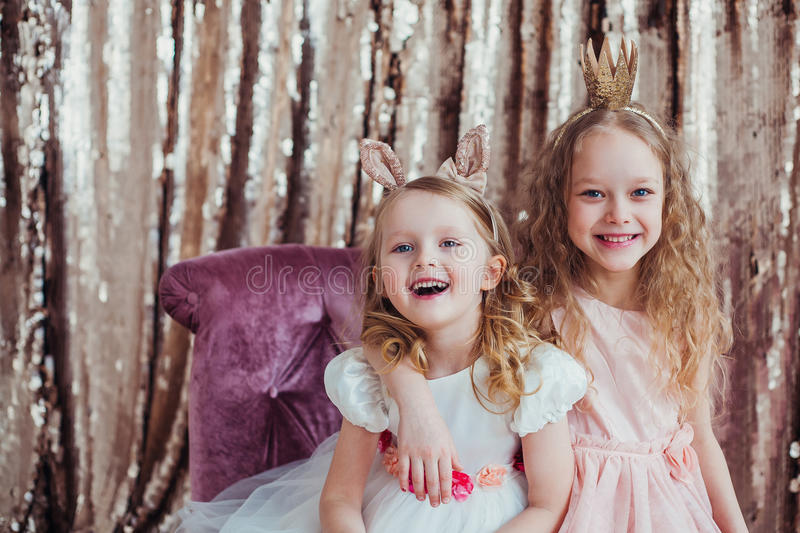 Pretty little girls royalty free stock photography