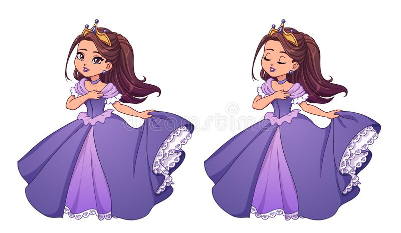 princesses with dark brown hair