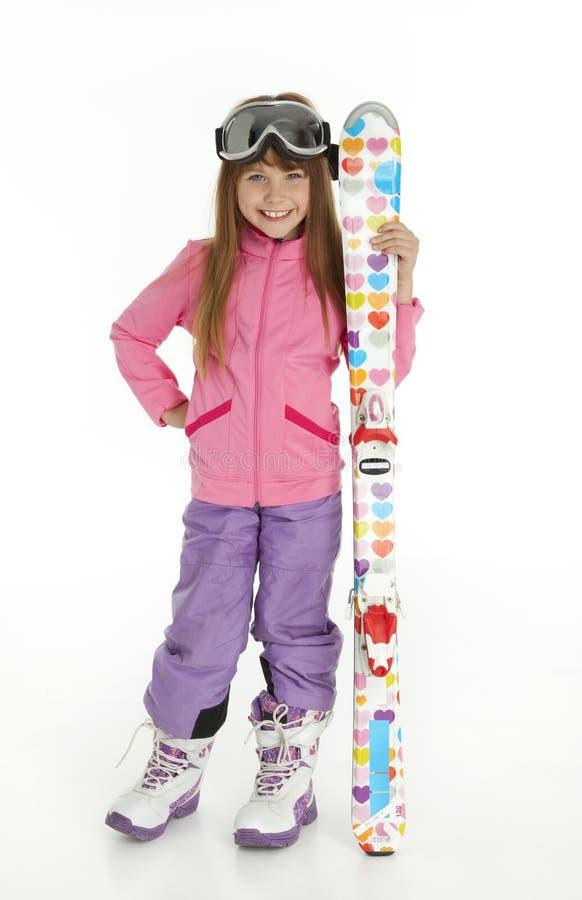 Pretty Little Ski Girl stock photo