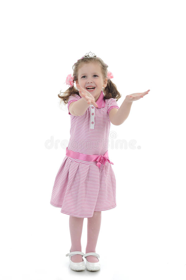 Download Pretty Little Surprised Girl In Black Dress Royalty Free Stock Images - Image: 21761949