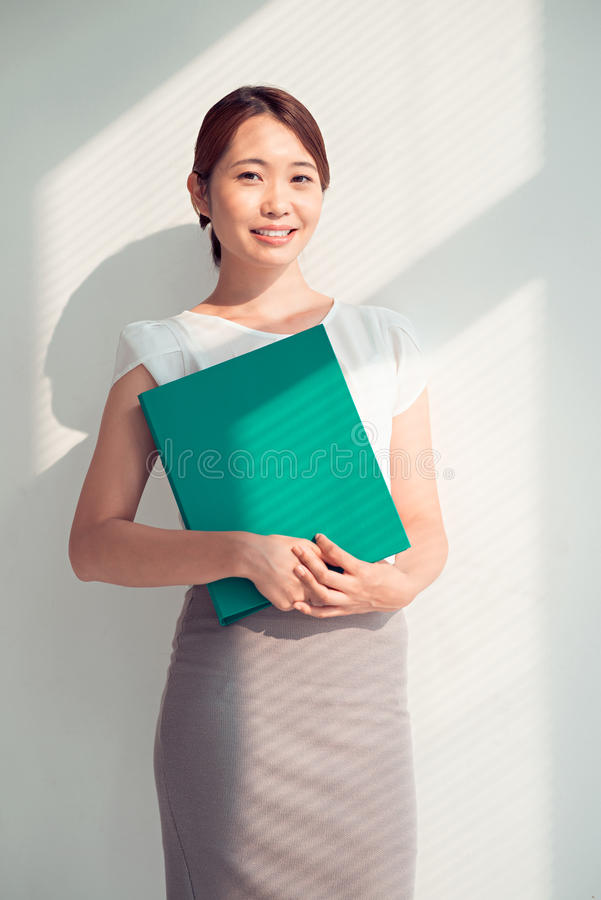Pretty manager royalty free stock photography