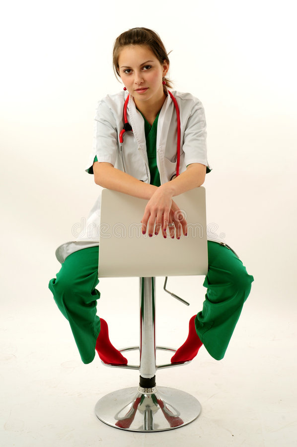 Pretty medical woman royalty free stock photo