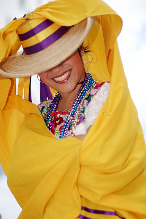 Pretty Mexican dancer royalty free stock image
