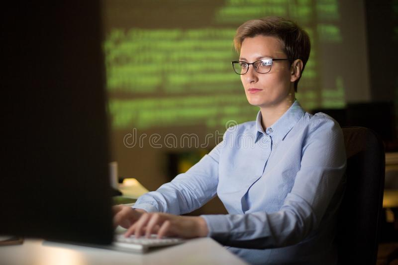 Middle-Aged Entrepreneur at Workplace stock photography