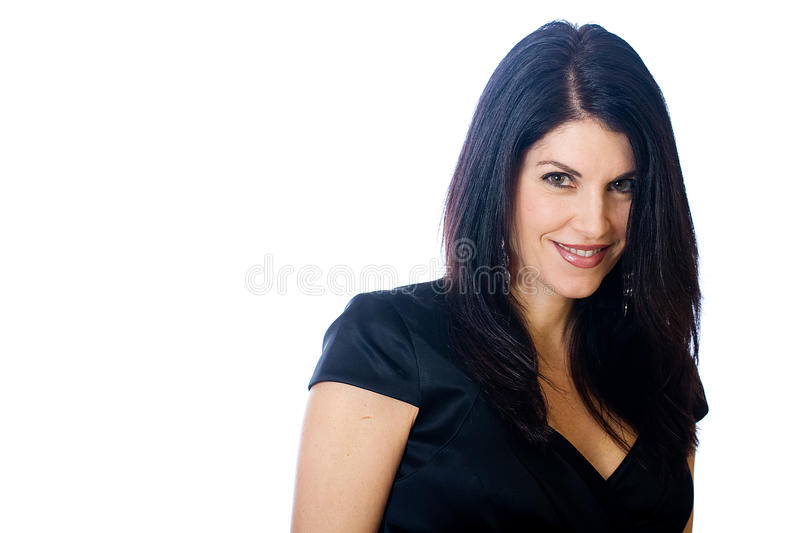 Pretty, middle aged woman royalty free stock photo