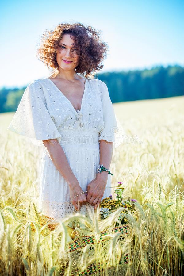 Free Pretty Middle-aged Woman In Field Stock Image - 130473611