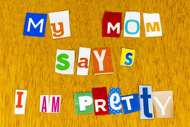 Pretty mom child love mommy letterpress family happy lifestyle love stock photography