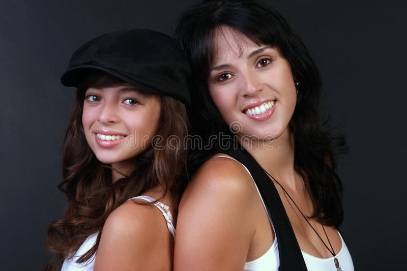 Pretty mother and daughter stock photo