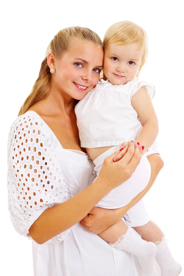 Pretty Mother With Her Cute Daughter Stock Image
