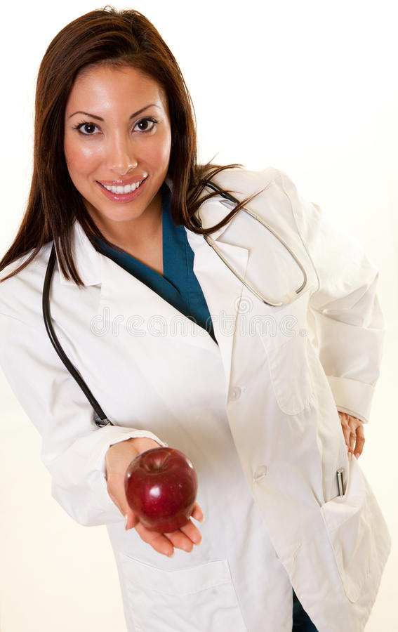 Pretty native american medical professional woman royalty free stock photos