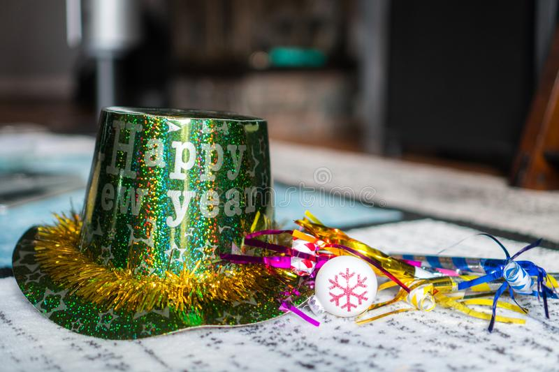 New Years Eve Party Hat royalty free stock images