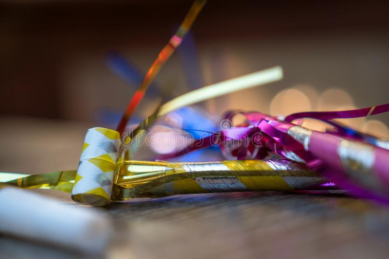 New Years Eve decorations and ornaments royalty free stock images