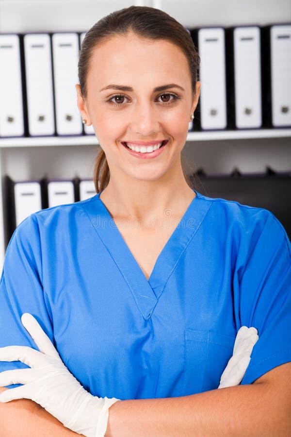 Download Pretty nurse stock photo. Image of greet, close, handshake - 15421612
