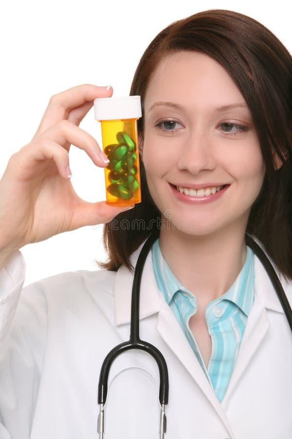 Pretty Nurse with Medication stock image